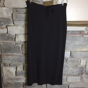 Gap Black Stretch Maxi Skirt Large